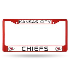 Kansas City Chiefs Metal License Plate Frame - Red