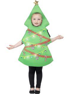 Disfraz de árbol de Navidad con luces niño Navidad-1