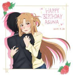 Sao Fanart, Kirito Asuna, Cutest Thing Ever, Sword Art Online, Good Music, Fan Art, Pasta, Sweets, Couples
