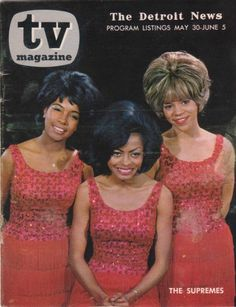 7a854237 The Supremes on the cover of The Detroit News, TV Magazine Guide that came  in the weekend paper.