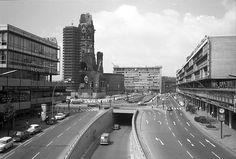 Berlin: Unterführung; Breitscheidplatz von der Brücke Budapester Straße (1970)
