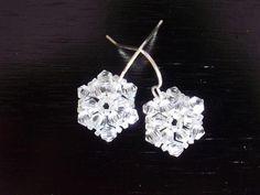 DIY Tutorial: Earrings / How to Make Beaded Snowflake Earrings - Bead&Cord