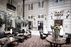 The lobby of the Polonia Palace hotel, downtown Warsaw, Poland