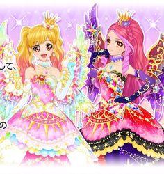 Aikatsu Stars! Yume's Eternal Rainbow Coord & Elza's Eternal Queen Coord!!!