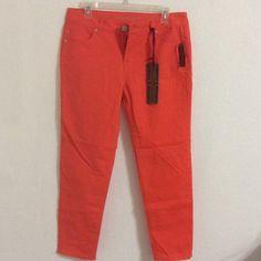 NWT Orange skinny ankle pants NWT Liverpool Orange skinny jeans - size 29/8 Liverpool Jeans Ankle & Cropped