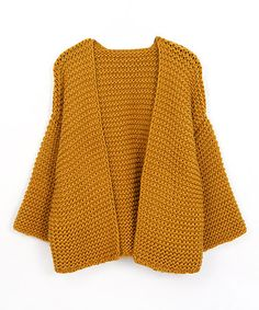 Look what I found on #zulily! Mustard Chunky Knit Open Cardigan #zulilyfinds