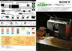 SONY・ラジオカセット・テープレコーダー・マイクロカセット・1978年(昭和53年)