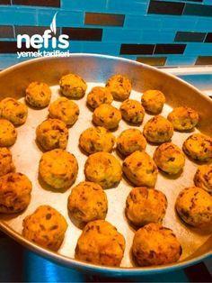 Fırında Patates Köftesi ( Çok Hafif ) My Recipes, Muffin, Food And Drink, Cookies, Baking, Breakfast, Ethnic Recipes, Desserts, Drinks