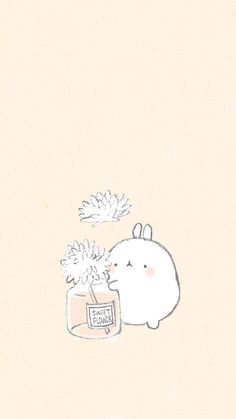Kill time or waste time is the same Soft Wallpaper, Kawaii Wallpaper, Cute Wallpaper Backgrounds, Wallpaper Iphone Cute, Aesthetic Iphone Wallpaper, Kawaii Drawings, Cute Drawings, Cute Images, Cute Pictures