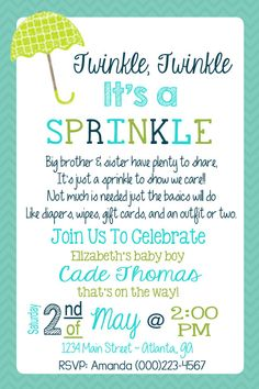 Delightful BABY SPRINKLE INVITATION Baby Blue U0026 Gold Baby Shower Glitter Confetti Dots  Sparkle Baby Boy Party Free Shipping Or DiY Printable  Leigh | Sprinkle ...