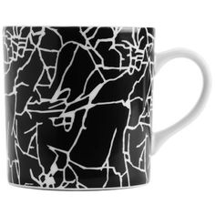Kelly Wearstler Mug ($49) ❤ liked on Polyvore featuring home, kitchen & dining, drinkware, kelly wearstler, porcelain mugs, inspirational mugs and black and white mugs