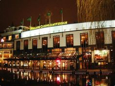 Holland Casino Amsterdam - A view of the casino from the outside. It is walking distance from the Marriott, but has no rooms. Don't try to go without jacket and tie.