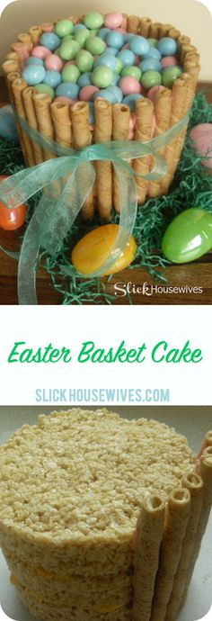 How to make Easter Basket Cake.  Happy Easter! This is such a cute and delicious cake that will have you hoppin' for more!