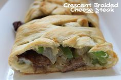 Crescent Braided Cheese Steak Recipe – Tammilee Tips Finger Food Appetizers, Finger Foods, Appetizer Recipes, Dinner Recipes, Yummy Recipes, Dinner Ideas, Philly Cheese Steak, Steak Pizza, Steak Tacos