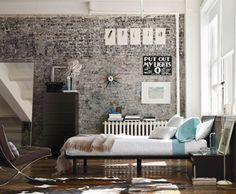 Brick Wall Industrial Bedroom Interior