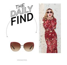 """Daily Find: Dolce & Gabbana Sunglasses"" by polyvore-editorial ❤ liked on Polyvore featuring Dolce&Gabbana and DailyFind"