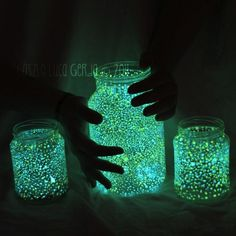Lightning Bugs in a Jar | Glowing Jar, Glow-in-the-dark paint, mason jars, DIY, crafting with ...