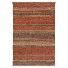 Textured and striped jute rug.  Product: RugConstruction Material: JuteColor: MultiFeatures: Handmade Note: Please be aware that actual colors may vary from those shown on your screen. Accent rugs may also not show the entire pattern that the corresponding area rugs have.