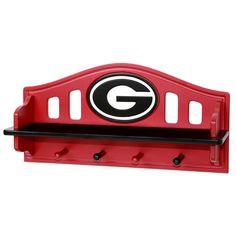 Georgia Bulldogs Wooden Shelf, Multicolor