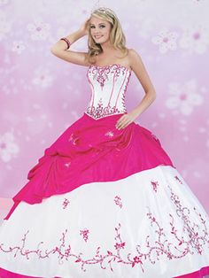 Pink Quince Dresses - White And Pink Corset Dress
