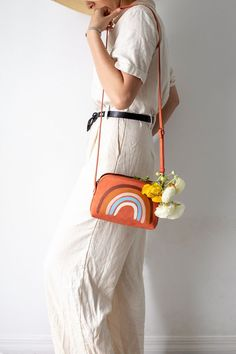 Add a little color to your wardobe and give a purse a quick rainbow makeover for spring,