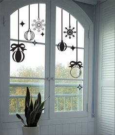 Like these bauble and snowflake decals for Christmas