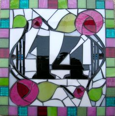 L.A. Mosaic Gifts - Handmade Mirrors, Mosaics and Jewellery ...This Mosaic was Pinned By www.mosaicnumbers.com