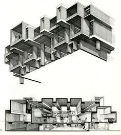 solidspace:  Orange County Government Center, Paul Rudolph Interesting use of isometric