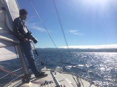 25 kts wind, 2' seas or less. Grey whale.