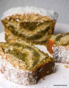 hübsches Muster im Grüntee-Kuchen