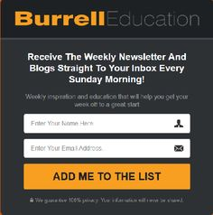 Need some #inspiration? Get your week off to a great start! Sign up for my weekly Newsletter https://burrelleducation.co/newsletter