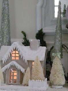 white glitter house by margie