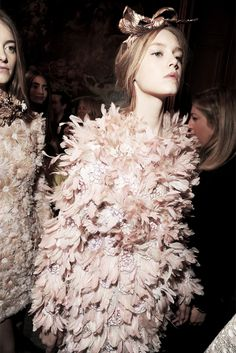 "stopdropandvogue: "" Jemma Baines backstage at Giambattista Valli Haute Couture Spring/Summer 2013 """