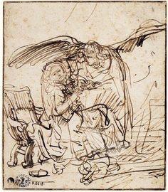 Rembrandt , Annonciation