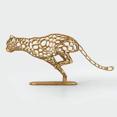 cheetah voronoi wireframe 3d model stl 2