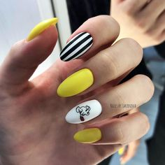 45 Top Nail Art Design Ideas Women 2019 Unsurpassed fashion nail art design for beauty 2019 in this style elegantly complements any of your evening dress and will be a great decoration for your pens. Exquisite fashionable nail art design, p. Nail Art Ombré, Nail Art Cute, Cute Nails, Cute Summer Nails, Spring Nails, Acrylic Nails, Gel Nails, Nail Polish, Elegant Nail Art
