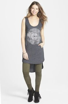 Project Social T 'Medallion' High/Low Tunic (Juniors) available at #Nordstrom