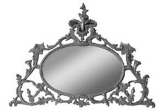 One Kings Lane - Barreveld International - Gilded Oval Mirror