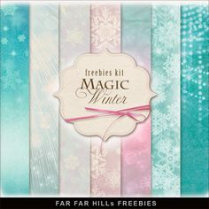 Far Far Hill - Free database of digital illustrations and papers: New Freebies kit of Backgrounds - Magic Winter