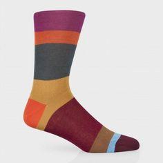 Paul Smith Socks - Damson Block Stripe Socks