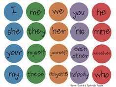 Pick-a-Dot Pronouns: Expressive Language and Grammar Activity - Pinned by @PediaStaff – Please Visit http://ht.ly/63sNt for all our pediatric therapy pins