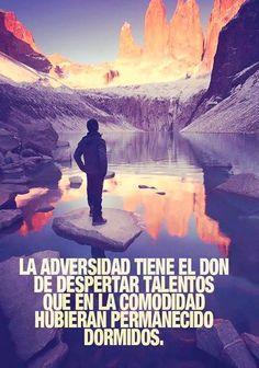 La adversidad tiene el don de despertar talentos*...