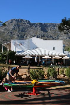 The Charming Deer Park Cafe in Vredehoek is a great family friendly cafe. Deer Park, Table Mountain, Large Windows, Cape Town, Dining, Building, Outdoor Decor, Kids, Travel