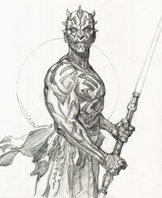 Star Wars - Darth Maul concept art by Ian McCaig