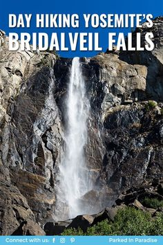 Hiking to bridalveil falls in yosemite national park, California. Tips and tricks for making the easy day hike with your family. Where to go camping nearby. How to get there, what to pack and advice on climbing and photography. Great #vanlife blog with ideas for rv or motorhome owners, and where to take your diy campervan conversion and 5th wheel travel trailer.