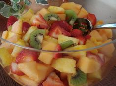 Lime-Ginger Syrup for Fruit Salads (Weight Watchers). I have made this and it's fabulous!