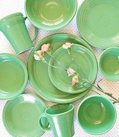 Homer Laughlin announced Tuesday the Fiesta Dinnerware brand's color, Meadow, a soft medium shade of green. Fiesta Colors, Casual Dinnerware, Fruit Salsa, Latte Mugs, Homer Laughlin, Kitchen Gadgets, Kitchen Items, Diy Kitchen, Kitchen Tools