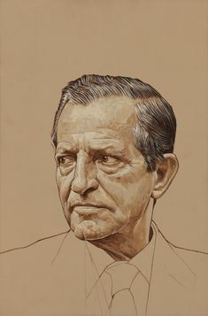 Adolfo Suárez González, was a Spanish lawyer and politician. Suárez was Spain's first democratically elected prime minister after the dictatorship of Francisco Franco, and the key figure in the country's transition to democracy Portrait Sketches, Pencil Portrait, Portrait Art, Trois Crayons, Fine Art Drawing, Face Sketch, Pencil Art Drawings, Sketch Painting, Portraits