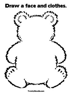 Big Brown Bear Coloring Page (used for the 10 sleepy teddy bears poem) Bears Preschool, Preschool Crafts, Emotions Preschool, Preschool Printables, Preschool Worksheets, Preschool Rules, Teaching Emotions, Preschool Alphabet, Preschool Learning