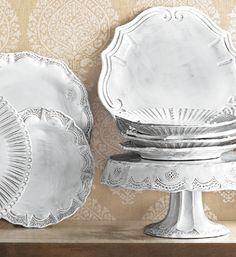 VIETRI Incanto- De Medici dots, baroque curves, antique Venetian lace and the waves of the Adriatic Sea combine to create Incanto dinnerware, with revolutionary strength and classic beauty. www.theitaliandish.com